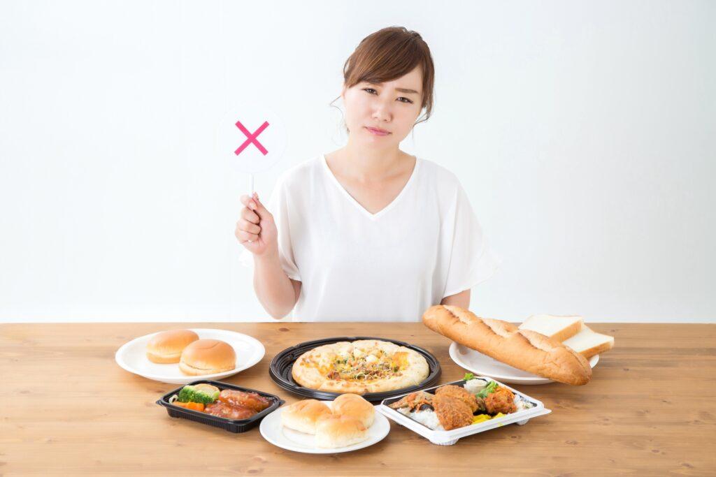 EMS施術後高脂質・高糖質な食事は避けましょう